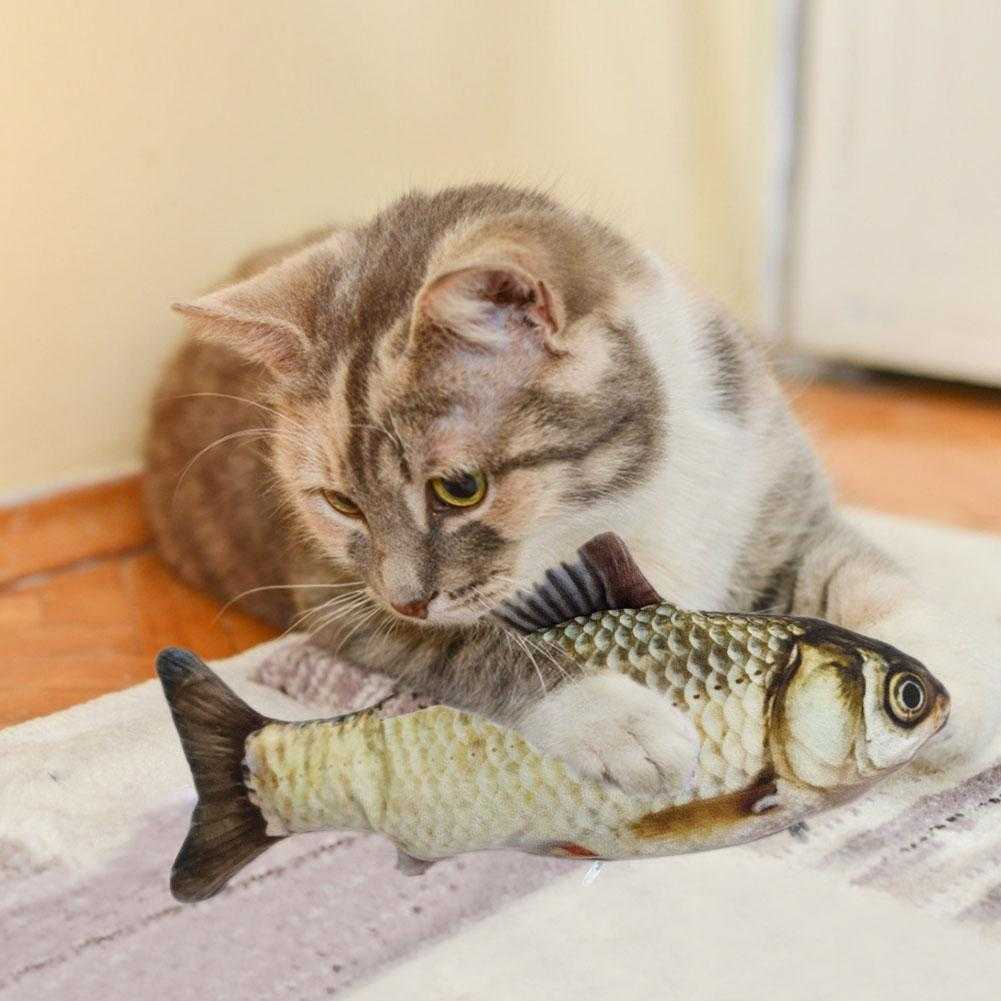 Cat interactive toy - moving fish